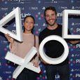 Yaniss Lespert et sa compagne Bétina Orsetti - Soirée de lancement de PlayLink de PlayStation au Play Link House à Paris, France, le 12 octobre 2017. © Veeren/Bestimage