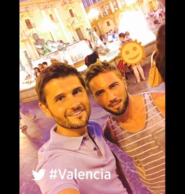 Christophe Beaugrand et Ghislain le 19 août 2016 à Valence en Espagne.