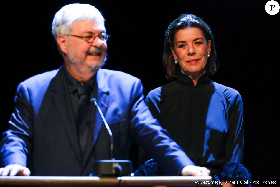 Michel Tremblay a été récompensé par le Prix Littéraire Prince Pierre de Monaco 2017 pour l'ensemble de son oeuvre en présence de la princesse Caroline de Hanovre, présidente de la Fondation, le 5 octobre 2017 à l'opéra Garnier à Monaco. © Olivier Huitel / Pool Monaco / Bestimage