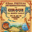 Affiche du 42e Festival international du cirque de Monte-Carlo, en janvier 2018.