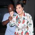 Kris Jenner et son compagnon Corey Gamble ont dîné avec Tommy Hilfiger à West Hollywood Le 14 octobre 2017.