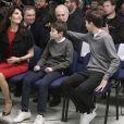 Véronique Zidane et ses enfants Elyaz et Théo - Zinedine Zidane devient l'entraineur du Real de Madrid et remplace ainsi Rafael Benítez à Madrid en Espagne le 4 janvier 2015.