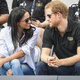 """""""Le prince Harry et Meghan Markle en couple dans les tribunes de la finale de tennis des 3e Invictus Games à Toronto, au Canada, le 25 septembre 2017."""""""