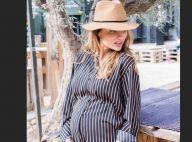 Ariane Brodier enceinte de 7 mois : La future maman dévoile son baby bump