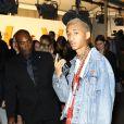 """Jaden Smith arrive au vernissage de l'exposition """"Volez, Voguez, Voyagez"""" de Louis Vuitton à l'American Stock Exchange. New York, le 26 octobre 2017."""