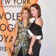 """Marina Foïs et Adele Exarchopoulos assistent au vernissage de l'exposition """"Volez, Voguez, Voyagez"""" de Louis Vuitton à l'American Stock Exchange. New York, le 26 octobre 2017."""