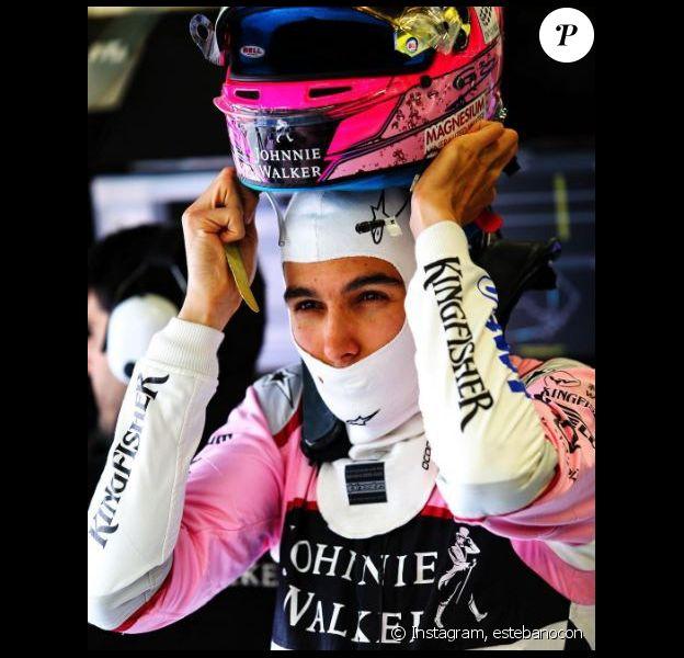 Esteban Ocon lors du Grand Prix de Grande-Bretagne, Instagram, le 15 juillet 2017.