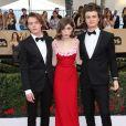 Charlie Heaton, Natalia Dyer et Joe Keery à la 23e cérémonie des Screen Actors Guild Awards (SAG Awards) au Shine Expo Hall à Los Angeles le 29 janvier 2017.