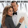 """""""Jennifer Lopez et son compagnon Alex Rodriguez en couverture du Vanity Fair américain, décembre 2017."""""""
