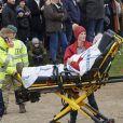 """Un accident s'est produit le 5 novembre 2017 lors de la course de chevaux """"Hubertus Jagt"""", au nord de Copenhague : sous les yeux de la princesse Mary de Danemark et ses quatre enfants, Christian, Isabella, Vincent et Josephine, un commissaire de course a été pris dans la cavalcade et a dû être évacué en ambulance."""