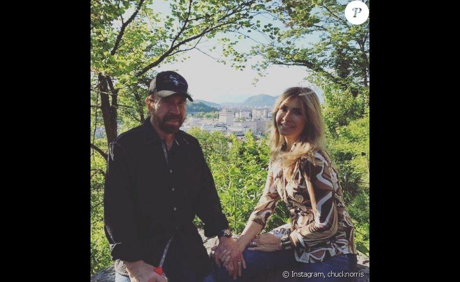chuck norris et sa femme gena sur instagram le 3 mai 2017 l 39 occasion d 39 un voyage en slov nie. Black Bedroom Furniture Sets. Home Design Ideas