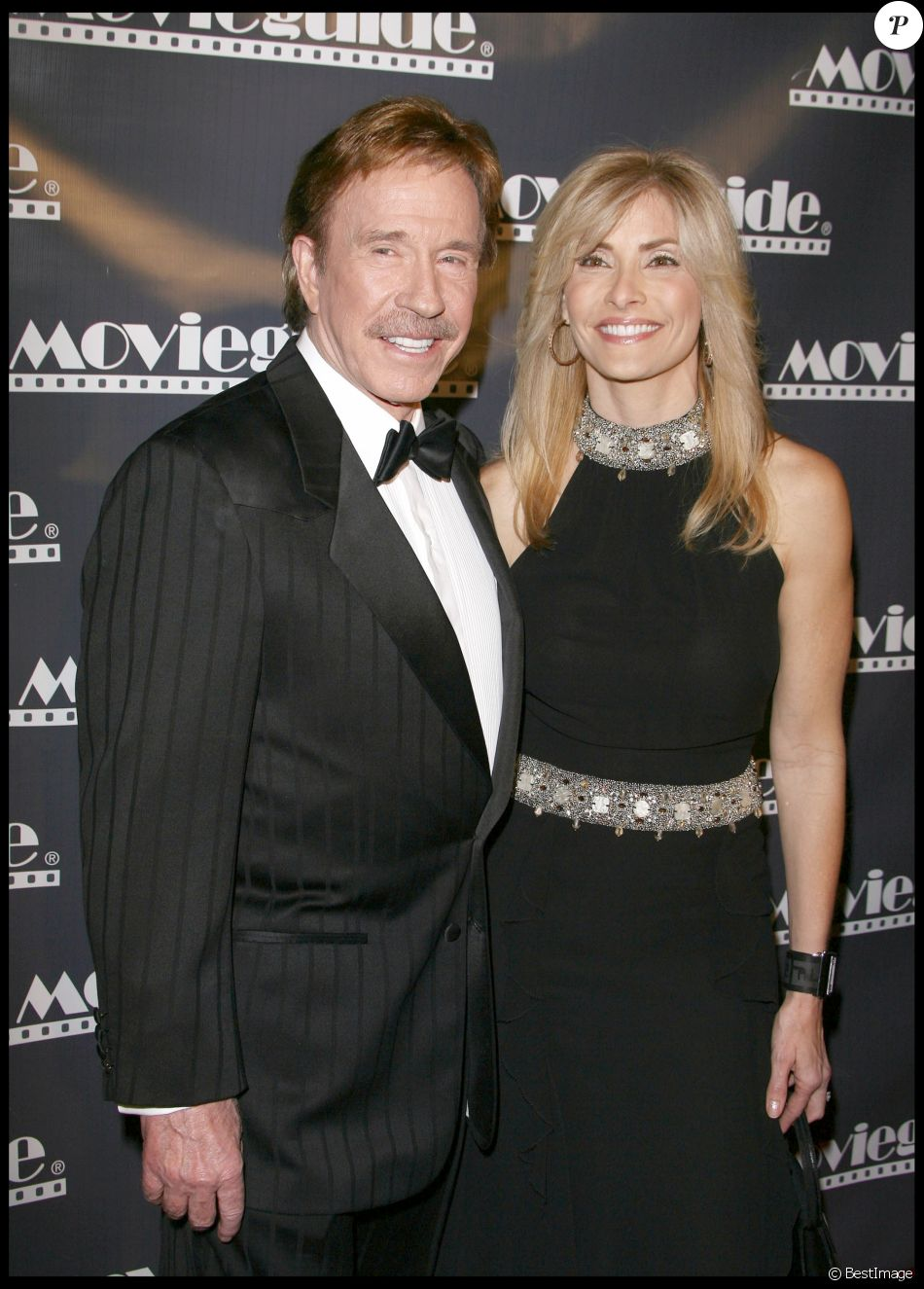 Chuck Norris et sa femme Gena - 17èmes Movieguide Faith & Values awards à l'hôtel Beverly Hilton le 11 février 2009.
