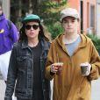 Ellen Page et sa compagne Emma Portner quittent leur hôtel, The Bowery Hotel, à New York. Le 12 septembre 2017