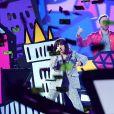 Charlie XCX et David Guetta à la cérémonie des MTV Europe Music Awards 2017 à la SSE Arena de Londres, le 12 novembre 2017.
