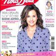 """Faustine Bollaert en couverture du magazine """"Nous Deux""""."""