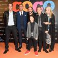 "Ary Abittan, Sébastien Chato, François-Xavier Demaison, Lee Unkrich, Darla K. Anderson, Andrea Santamaria - Projection du nouveau film d'animation Pixar ""Coco"" au Grand Rex à Paris, le 14 novembre 2017. © Coadic Guirec/Bestimage"