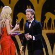 Nico Rosberg, Claudia Schiffer - Cérémonie des Bambi Awards 2017 à Berlin. Le 16 novembre 2017.