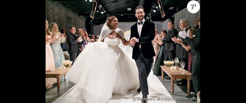 le photographe allan zepeda a partag cette photo du mariage de serena williams sur son compte. Black Bedroom Furniture Sets. Home Design Ideas