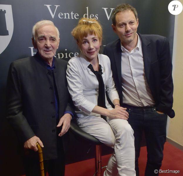 Charles Aznavour, Julie Depardieu et Marc-Olivier Fogiel- 157ème vente aux enchères des vins des Hospices de Beaune à Beaune le 19 novembre 2017. © Giancarlo Gorassini/Bestimage