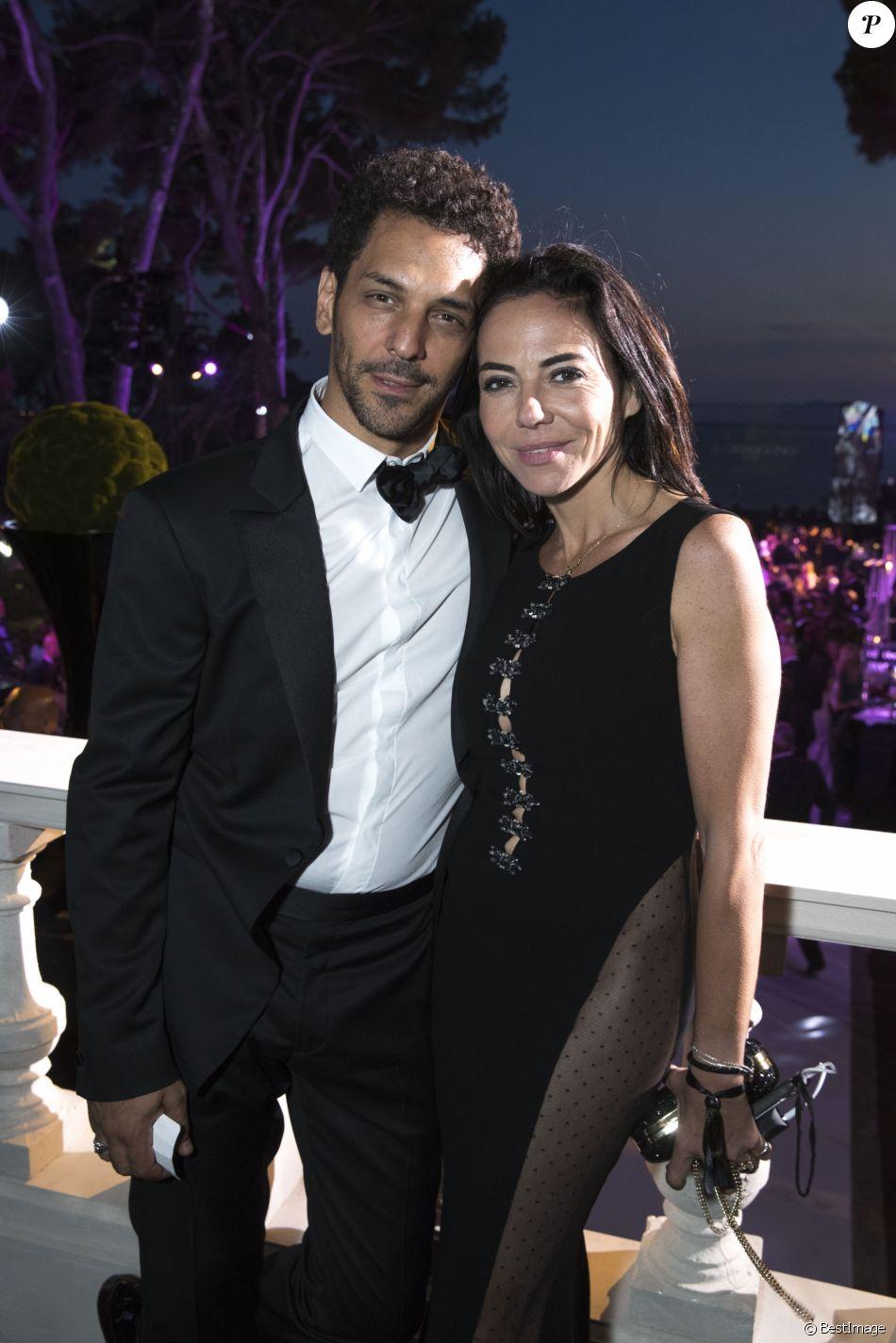 """Tomer Sisley et Sandra Zeitoun de Matteis - Soirée de Grisogono """"Love On The Rocks"""" à l'hôtel Eden Roc au Cap d'Antibes lors du 70 ème Festival International du Film de Cannes. Le 23 mai 2017."""