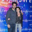 """Tomer Sisley et sa compagne Sandra Zeitoun - Avant-première du film """"Ghost in the Shell"""" au Grand Rex à Paris, le 21 mars 2017. © Olivier Borde/Bestimage"""