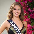 Miss Aquitaine en maillot de bain lors du voyage Miss France 2018 en Californie, en novembre 2017.