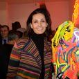 Exclusif - Adeline Blondieau - Cocktail d'inauguration de la première galerie Pop Art Concept store entièrement dédié aux oeuvres de Richard Orlinski à Paris, le 23 novembre 2017. © Rachid Bellak/Bestimage