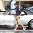 Julio José Iglesias et sa nouvelle voiture de collection, le 19 février à Miami