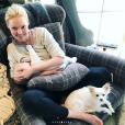 """Katherine Heigl, son fils Joshua et son chien Gracie Lou."""