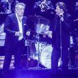 """Exclusif - Eddy Mitchell, Johnny Hallyday et Jacques Dutronc - Premier concert """"Les Vieilles Canailles"""" au stade Pierre Mauroy à Lille, le 10 juin 2017 © Andre.D / Bestimage"""