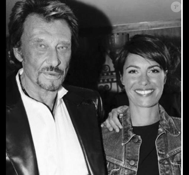 Alessandra Sublet a rendu hommage à Johnny Hallyday sur Instagram. Le 6 décembre 2017.