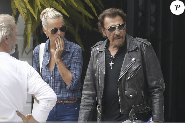 Exclusif - Johnny Hallyday et sa femme Laeticia Hallyday à Los Angeles le 12 septembre 2016.