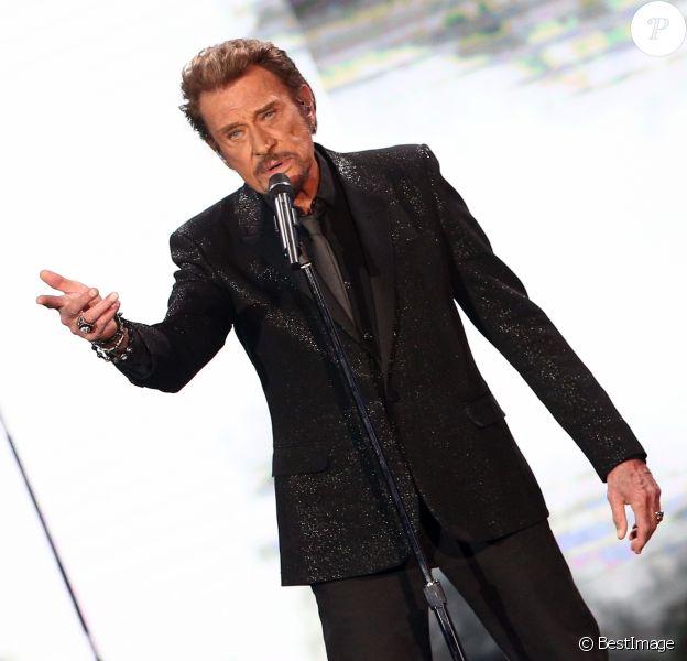 """Exclusif - Johnny Hallyday - Enregistrement de l'émission Spécial Johnny Hallyday, """"Johnny, la soirée événement"""" en 2014"""