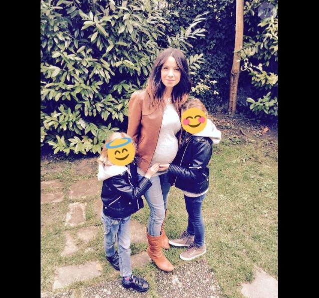 Anne-Gaëlle Riccio enceinte de son 3e enfant, le 13 octobre 2017.