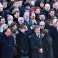 François Hollande, Carla Bruni-Sarkosy, Nicolas Sarkozy, le président Emmanuel Macron lors de la cérémonie d'hommage national à Jean d'Ormesson à l'hôtel des Invalides à Paris le 8 décembre 2017. © Giancarlo Gorassini / Bestimage Ceremony of national tribute to Jean d'Ormesson at the Hotel des Invalides in Paris on december 8th 201708/12/2017 - Paris