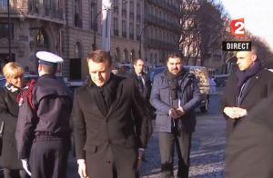 Obsèques de Johnny Hallyday : Emmanuel Macron salue
