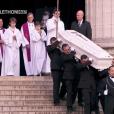 aux obsèques de Johnny Hallyday à Paris. Le 9 décembre 2017.