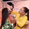 Rihanna assiste à un événement de la marque FentyBeauty. 2017.