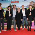 L'équipe du film Les Tuche le 9 juin 2011 au Cinéma Marignan, sur les Champs Elysées, à Paris, pour l'avant-première du film
