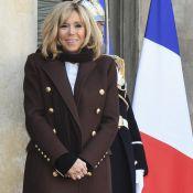 Brigitte Macron, en cuir à l'Elysée, réserve un accueil chaleureux à ses invités