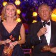 Sylvie Tellier et Jean-Pierre Foucault - Concours Miss France 2018. Sur TF1, le 16 décembre 2017.