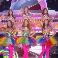 Les 30 Miss en tenue de fête forraine - Concours Miss France 2018. Sur TF1, le 16 décembre 2017.