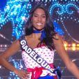 Miss Guadeloupe : Johane Matignon             en tenue du 14 juillet - Concours Miss France 2018. Sur TF1, le 16 décembre 2017.