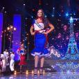 Miss Franche-Comté :             Mathilde Klinguer             en tenue du 14 juillet - Concours Miss France 2018. Sur TF1, le 16 décembre 2017.