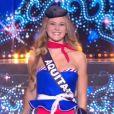 Miss Aquitaine :   Cassandra Jullia             en tenue du 14 juillet - Concours Miss France 2018. Sur TF1, le 16 décembre 2017.