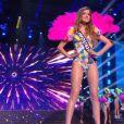 Miss Limousin : Anaïs Berthomier en maillot de bain - Concours Miss France 2018. Sur TF1, le 16 décembre 2017.