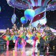 Les Miss régionales en tenues pop acidulées - Concours Miss France 2018. Sur TF1, le 16 décembre 2017.