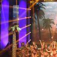 Les 12 demi-finalistes en bikini - Concours Miss France 2018. Sur TF1, le 16 décembre 2017.