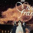 Sylvie Tellier, Alicia Aylies et Jean-Pierre Foucault - Concours Miss France 2018. Sur TF1, le 16 décembre 2017.