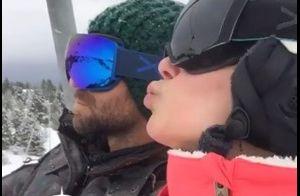 Marine Lorphelin amoureuse de Christophe : Amants complices aux sports d'hiver